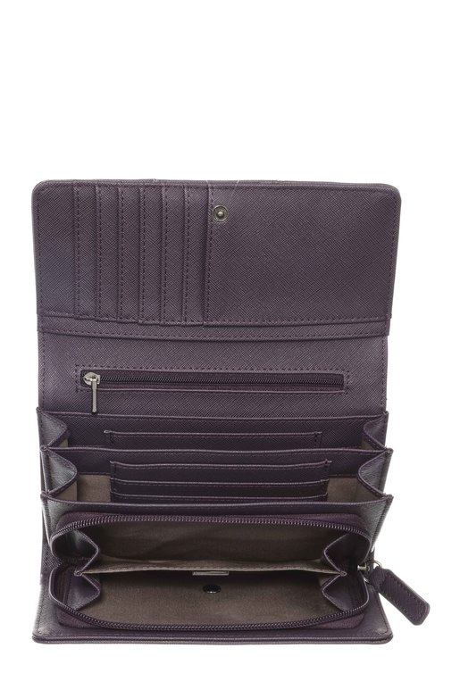 SB-1338-038 Wallet Flap L , one size, AUBERGINE