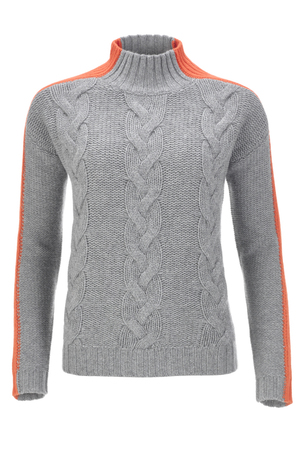 FTC Damen Zopfpullover , Orange, L