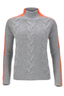 FTC Damen Zopfpullover , grey, XS
