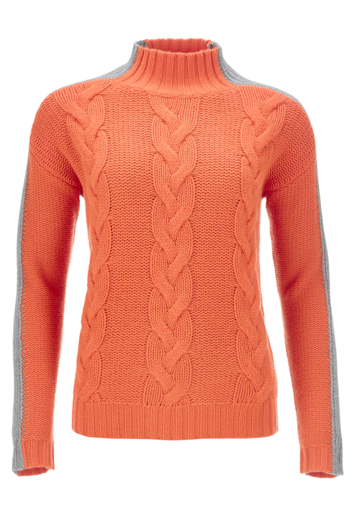 FTC Damen Zopfpullover , Orange, XXXL