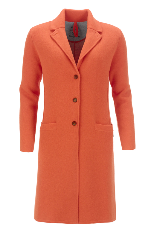 FTC Damen Doubleface Mantel HS1076 , Orange, XXXL