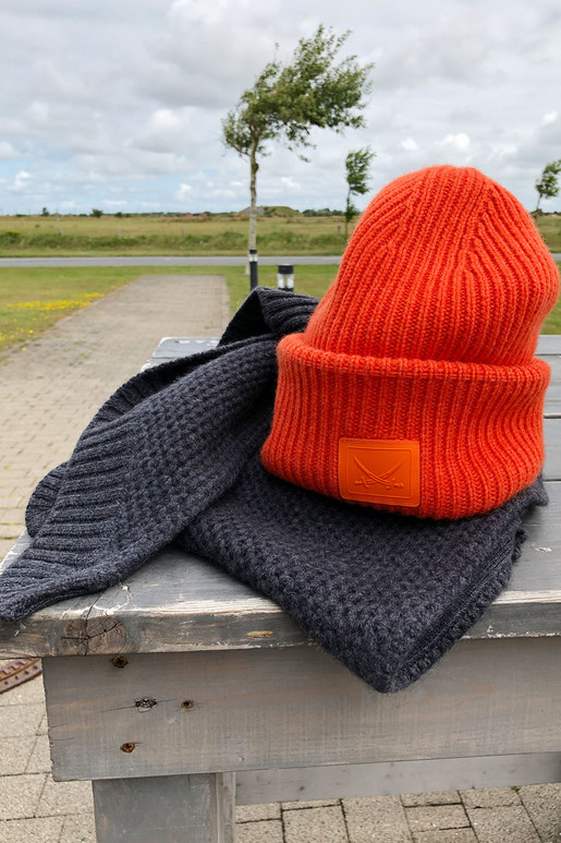Unisex Kaschmir Mütze , Orange, one size