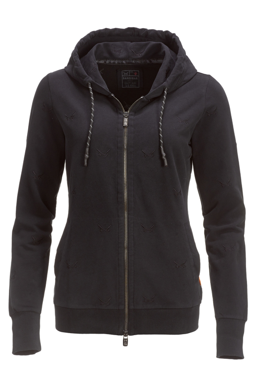 "Damen Sweatjacke ""ALL OVER SWORDS"" , black, S"