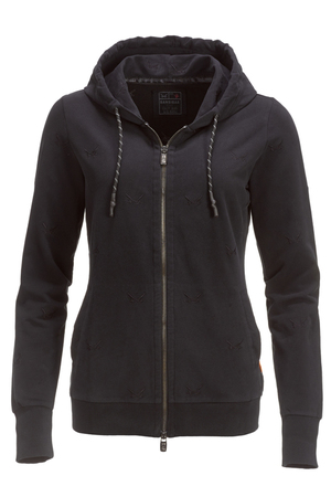 "Damen Sweatjacke ""ALL OVER SWORDS"" , black, XXS"