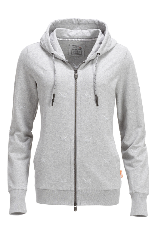 "Damen Sweatjacke ""ALL OVER SWORDS"" , greymelange, S"