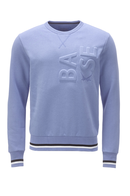 Herren Sweater BASE , greyblue, L