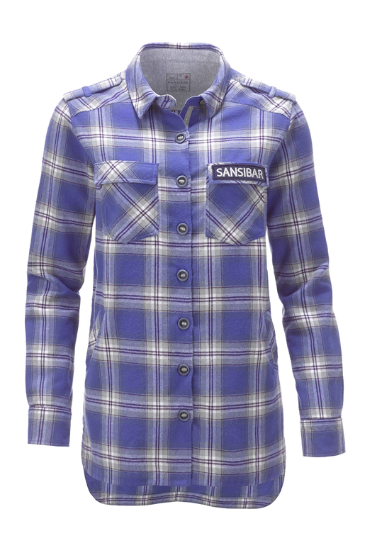 Damen Overshirt , blue, XXS