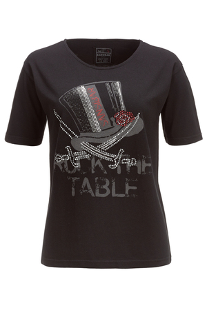 Damen T-Shirt ROCK THE TABLE , black, M