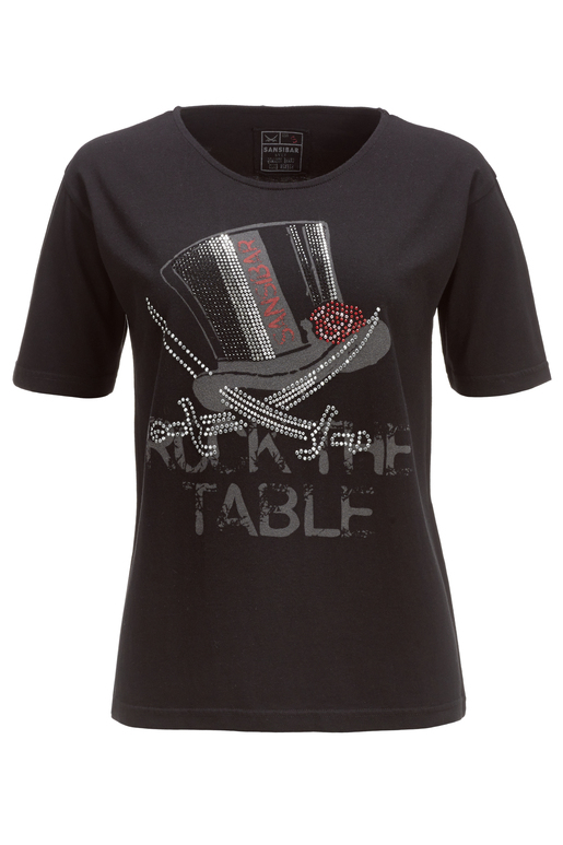 Damen T-Shirt ROCK THE TABLE , black, XS