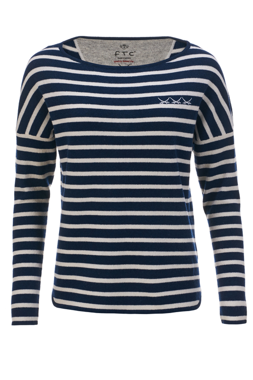 FTC Damen Pullover STRIPES , blue/ white, L