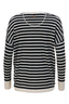 FTC Damen Pullover V-Neck , white/ black, XS