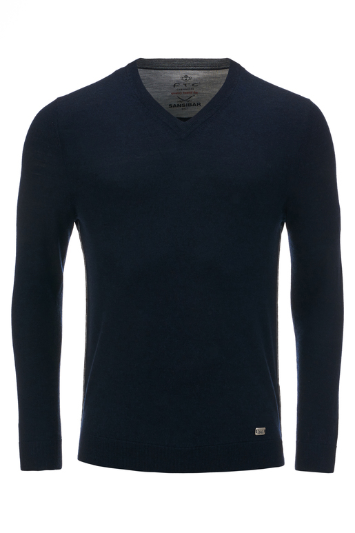 FTC Herren Pullover V-Neck , midnight blue, XXXL