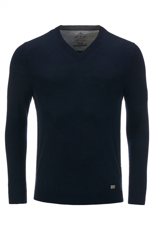 FTC Herren Pullover V-Neck , midnight blue, S