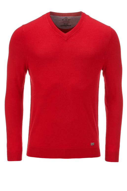 FTC Herren Pullover V-Neck , red, S