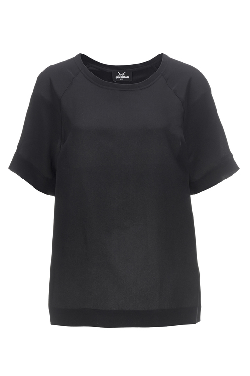 Damen T-Shirt SILK , black, XS