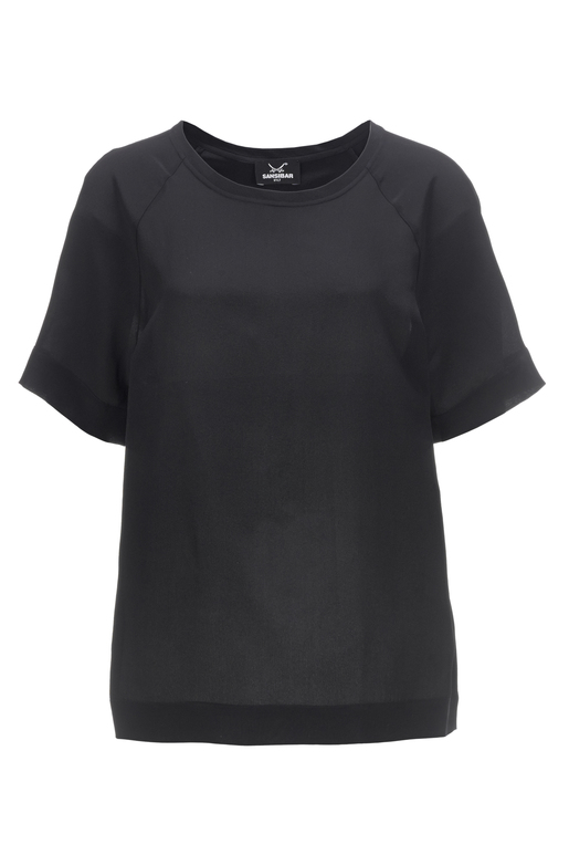 Damen T-Shirt SILK , black, S