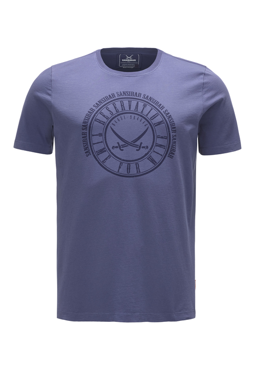 Herren T-Shirt TIME FOR WINE , dark blue, XS