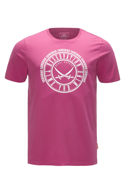 Herren T-Shirt TIME FOR WINE , pink, M