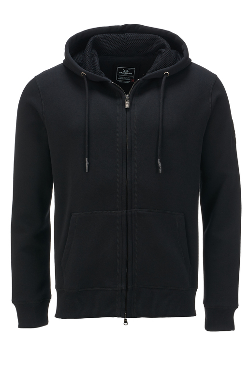 Herren Sweatjacke SIMPLE , black, XXXXL