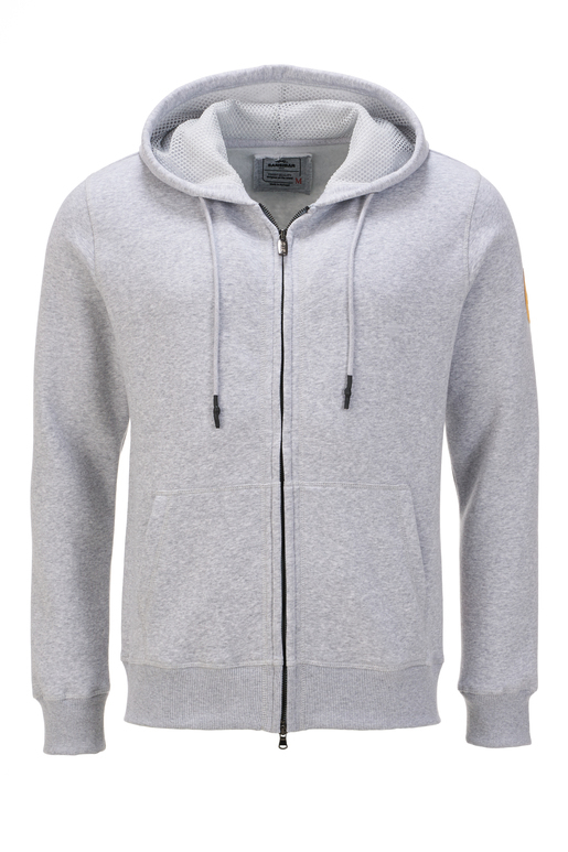 Herren Sweatjacke SIMPLE , silvermelange, S