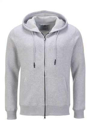 Herren Sweatjacke SIMPLE , silvermelange, L