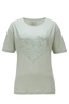 Damen T-Shirt HEART , milky green, XS