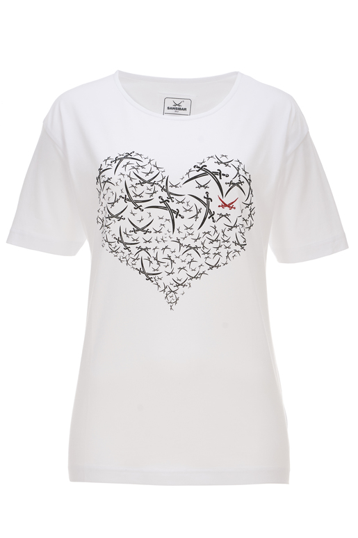 Damen T-Shirt HEART , white, XXL