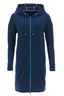 Damen Long-Sweatjacke , blue, XL