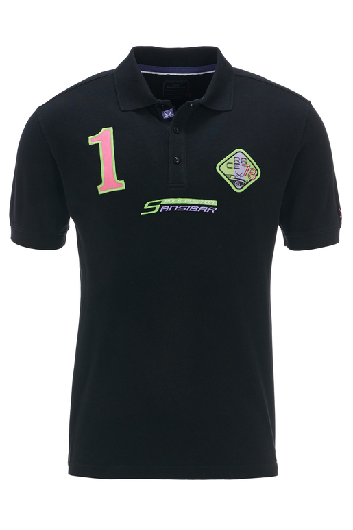 Herren Poloshirt POLE POSITION , black, XS