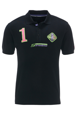Herren Poloshirt POLE POSITION , black, M