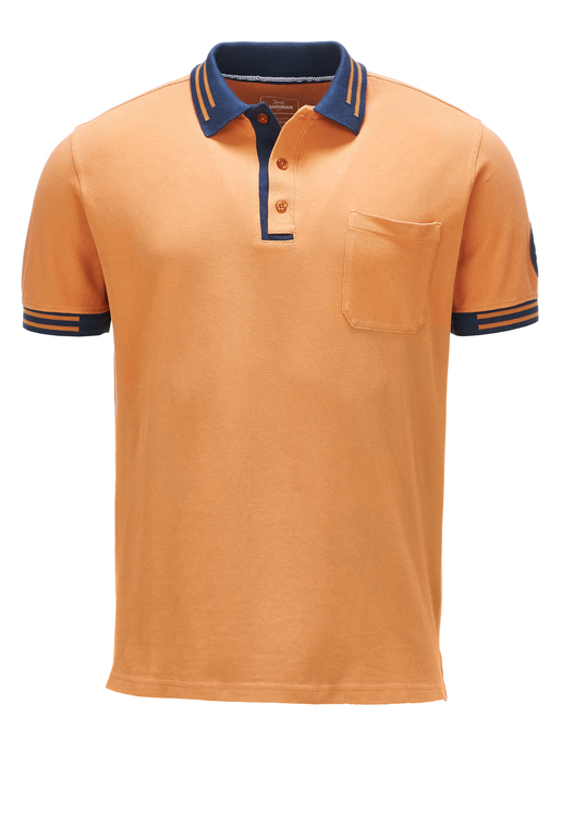 Herren Poloshirt HIGHER PERFORMANCE , cognac, L