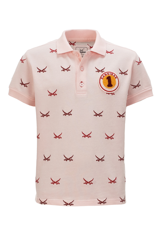 Kinder Poloshirt ALL OVER SWORDS , rosa, 128/134