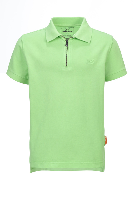 Kinder Poloshirt GREEN FLASH , green, 128/134
