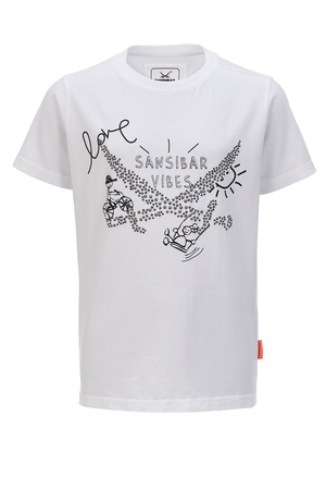 Kinder T-Shirt VIBES , white, 152/158
