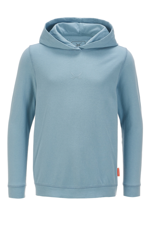 Kinder Hoody , greyblue, 92/98