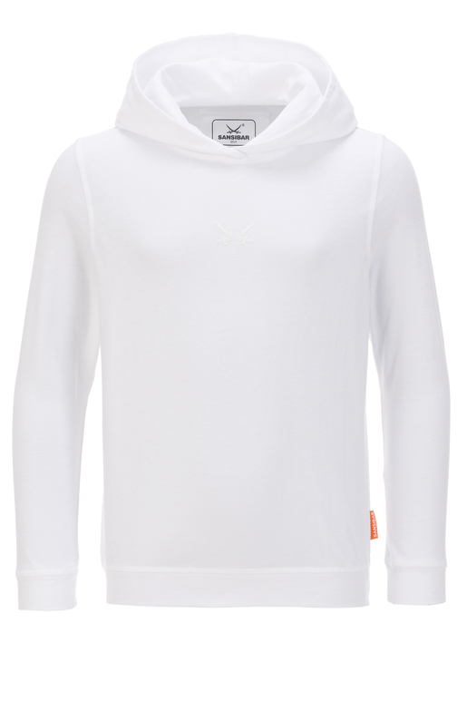 Kinder Hoody , white, 104/110