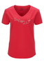 Damen T-Shirt BE HAPPY , red, XXL