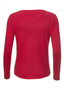 Damen Longsleeve PEARLS , red, L