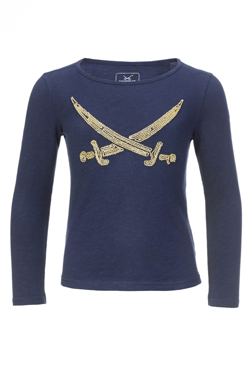 Girls Longsleeve PEARLS , navy, 92/98