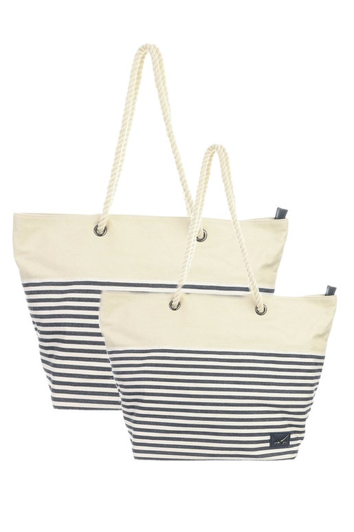SB-1366-106 Beach Bag big , one size, NAVY