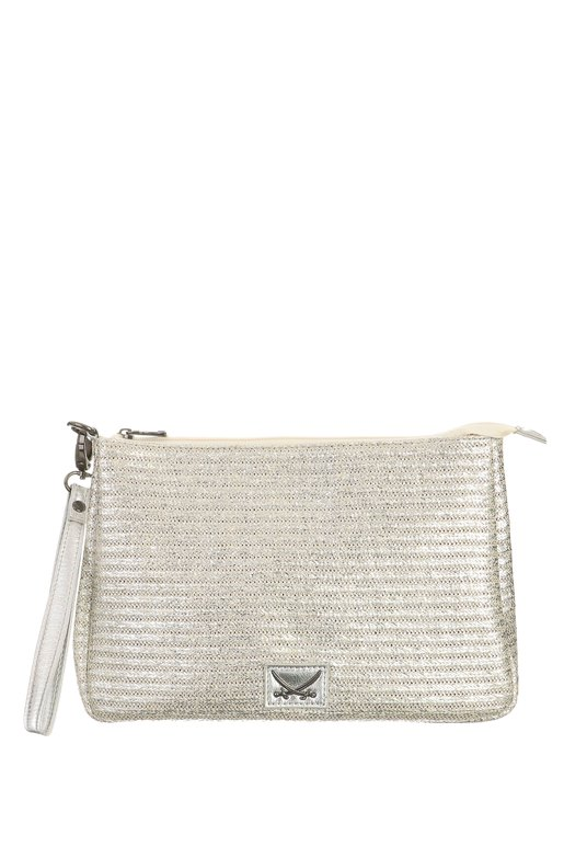 SB-1367-098 Beach Clutch , one size, SILVER