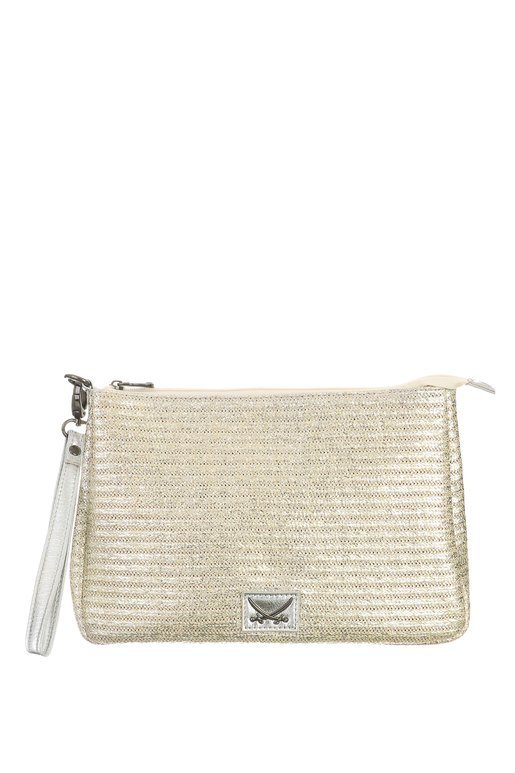 SB-1367-099 Beach Clutch , one size, GOLD