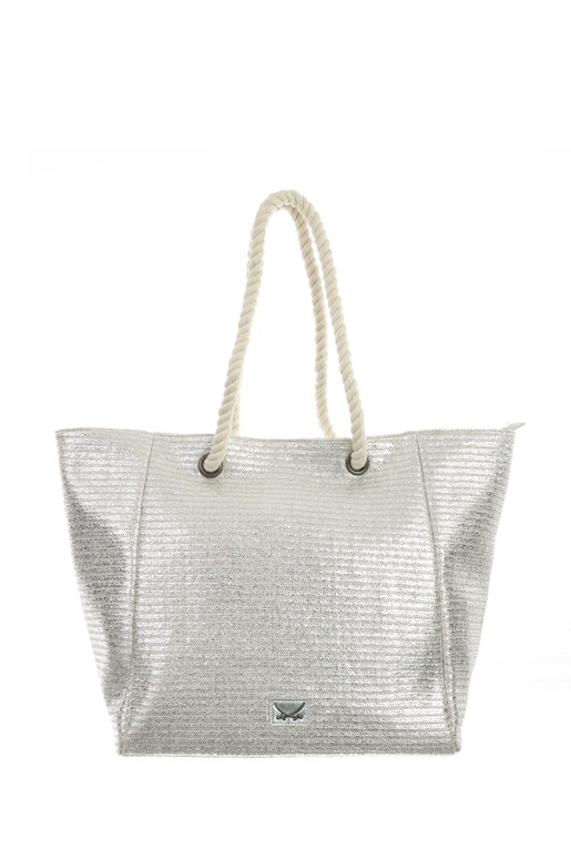 SB-1368-098 Beach Bag M , one size, SILVER