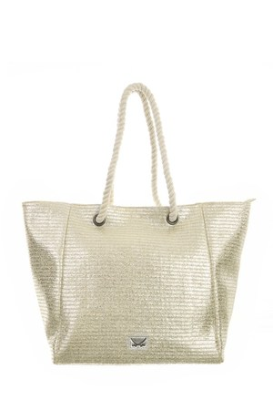 SB-1368-099 Beach Bag M , one size, GOLD