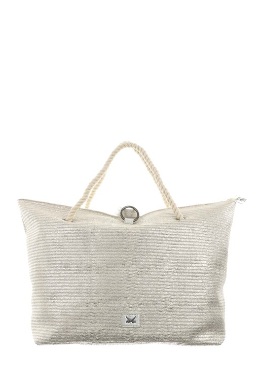 SB-1369-098 Beach Bag L , one size, SILVER