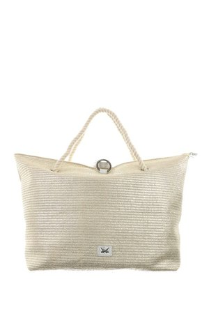 SB-1369-099 Beach Bag L , one size, GOLD