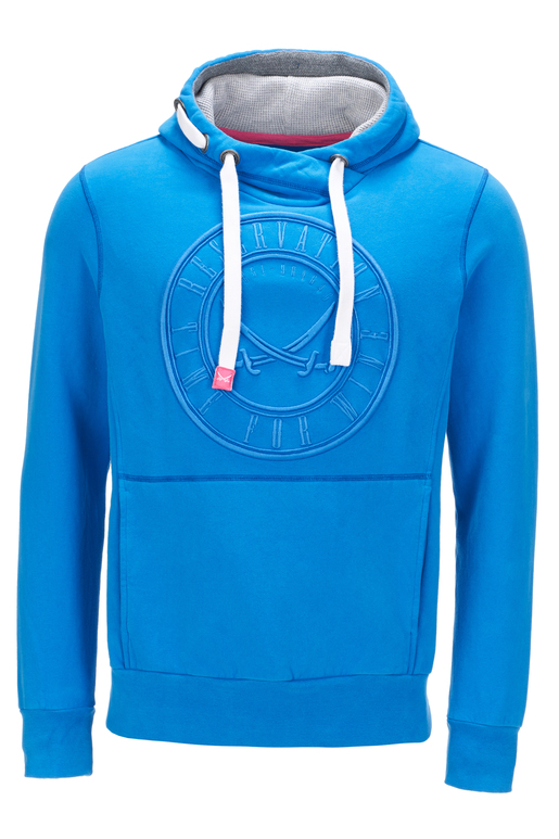 Herren Hoody TIME FOR WINE , blue, XXXL