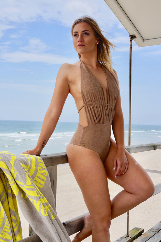 Beverly Hills Swimsuit , Beige, XS