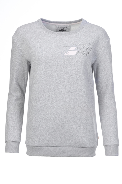 Damen Sweater SPEED , silvermelange, XXS