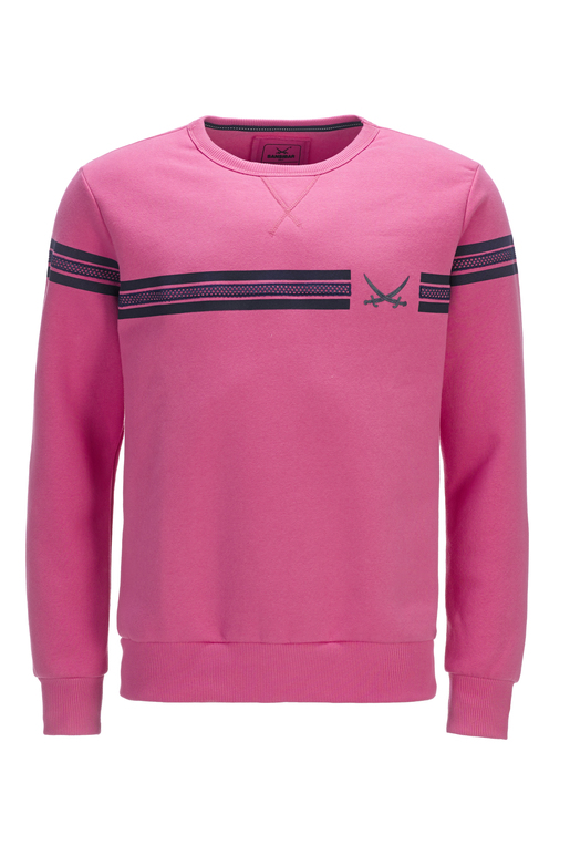 Herren Sweater STRIPES , pink, XS